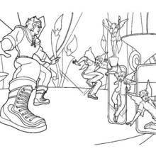 Coloriage Barbie : Le duel de Kane et Zane à colorier