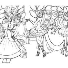 Les fées Barbie et Raquelle à colorier