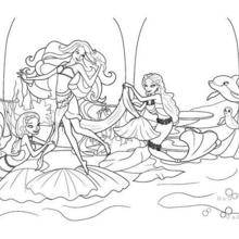 Coloriage Barbie : Merliah à Oceana