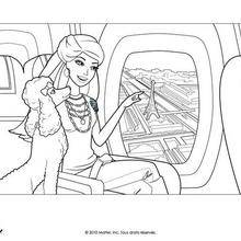 Coloriage Barbie : Paris