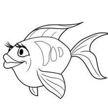 Coloriage Barbie : Un poisson ami de Merliah