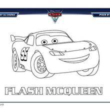 Coloriage Disney : CARS 2 FLASH MCQUEEN à colorier