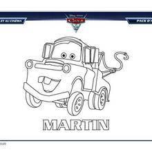 Coloriage : CARS 2 MARTIN à imprimer