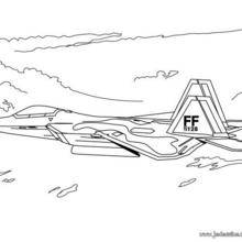 Coloriage d'un avion de combat