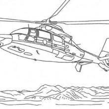 Coloriage d'un hélicopter