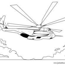 Coloriage d'un hélicoptère