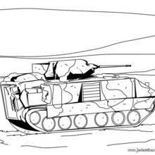 Coloriage d'un tank de l'Armée