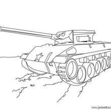 Coloriage d'un tank