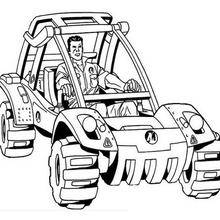 Coloriage : La voiture d'Action Man