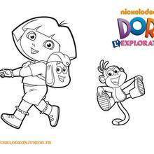 Coloriage de Dora et Babouche