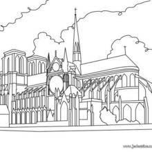 Coloriage de la Cathédrale Notre-Dame