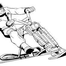 Coloriage de la moto d'Action Man