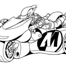 Coloriage de la super moto de Action Man