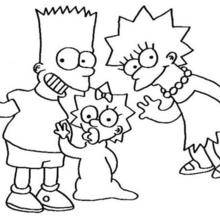 Coloriage de Lisa et Bart
