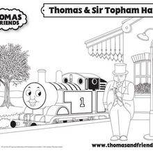 Coloriage de Thomas et Sir Topham Hatt