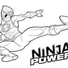 Coloriage Power Rangers : Ninja Power Rangers