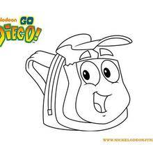 Coloriage du cartable de DIEGO