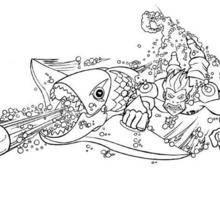 Coloriage du poisson mitrailleur