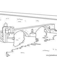 Coloriage du Pont d'Avignon