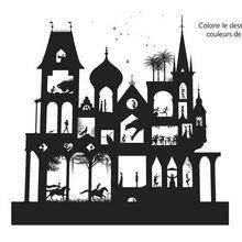 Coloriage : Le palais des Contes de la Nuit