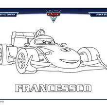 Coloriage gratuit FRANCESCO CARS 2