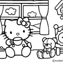 Coloriages coloriage de princesse kitty - Coloriage tete hello kitty a imprimer ...