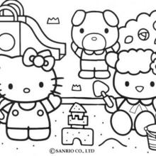 Coloriage Fleur Hello Kitty.Coloriages Coloriage A Imprimer Hello Kitty Fr Hellokids Com
