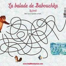 Coloriage : Le labyrinthe de Babouchka