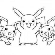 Coloriage : Pikachu