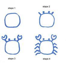 Leçon de dessin : Dessiner un crabe