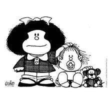 Coloriage de Mafalda avec Guille
