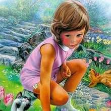 Coloriages pour filles, Coloriage de Martine