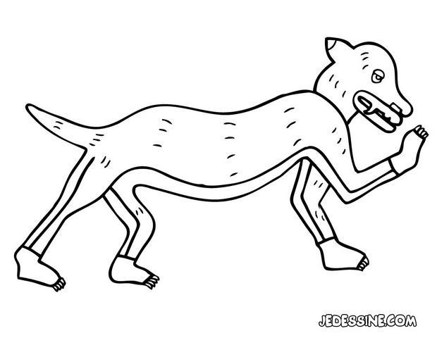 Coloriage d'un chien