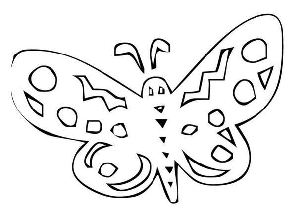 Coloriages coloriage d 39 un papillon n 17 - Dessin d un papillon ...