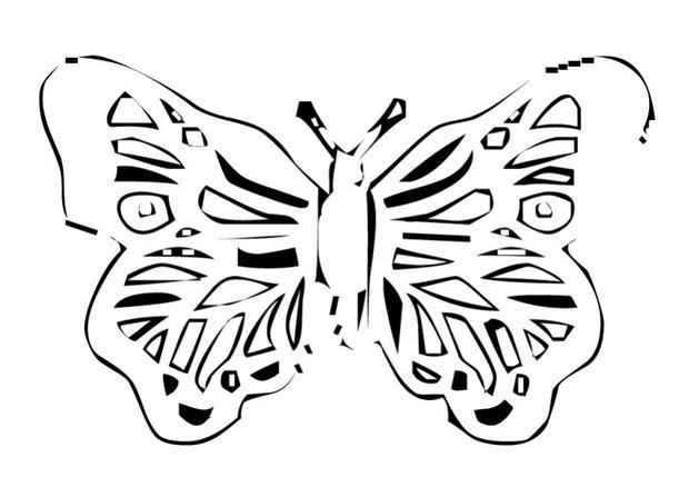 Coloriages coloriage d 39 un papillon n 22 - Coloriage d un papillon ...