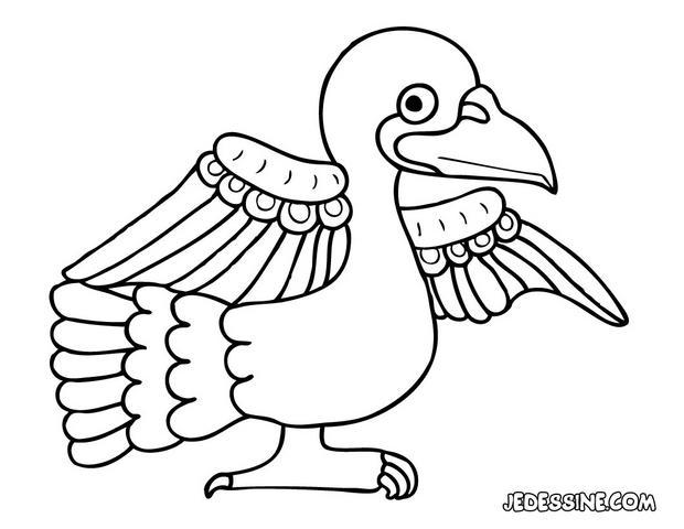 Coloriages coloriage d 39 un pigeon - Dessin pigeon ...
