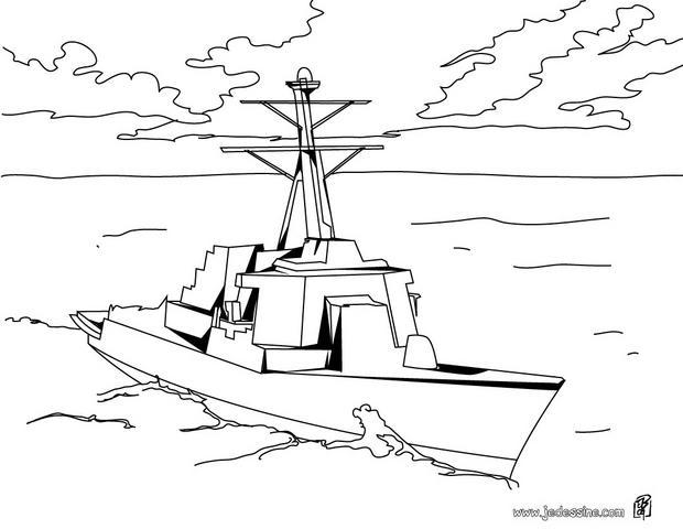 coloriage dune corvette bateau de guerre
