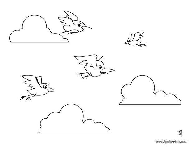 Comment dessiner des oiseaux qui vole - Dessin oiseau qui chante ...
