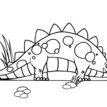 Coloriage : Stégosaure mignon