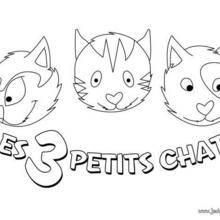 Coloriage : Trois petit chat