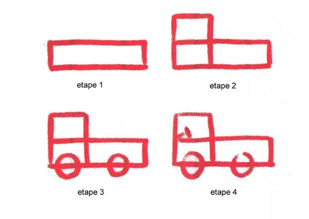 Comment dessiner un camion - Dessiner un camion de pompier ...
