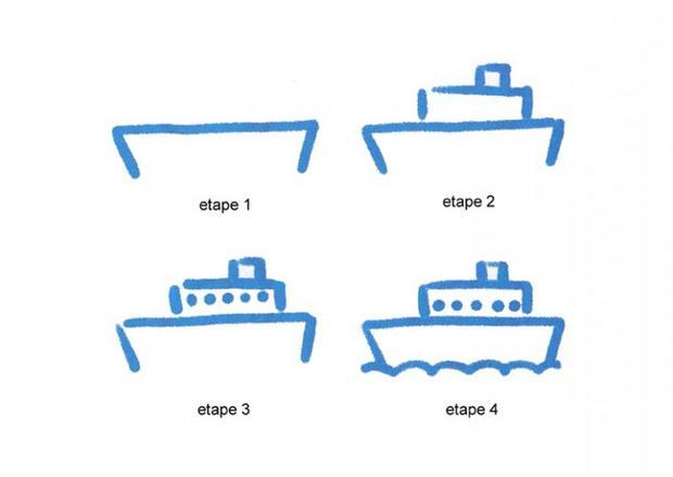 Comment dessiner un paquebot - Coloriage paquebot ...