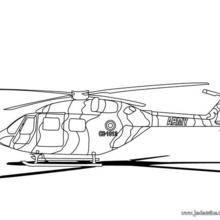 Coloriage d'un hélicoptère de combat