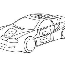 Coloriage d'une voiture de course