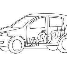 Coloriage d'une voiture de rallye