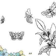 Coloriage de papillons qui volent