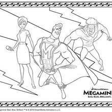 Coloriage de ROXANNE METROMAN et TITAN