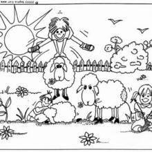 Coloriage de saute-moutons