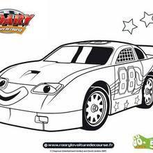 Coloriage de TinTop voiture de NASCAR