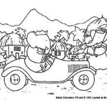 Coloriage : La voiture de Babar